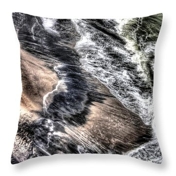 The Tide From Above Throw Pillow by Bob Hislop