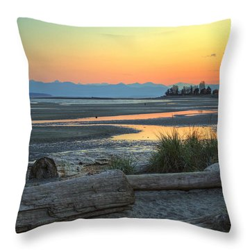 The Tide Is Low Throw Pillow by Randy Hall