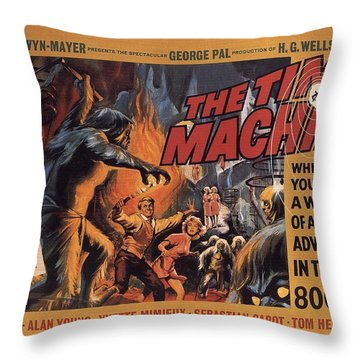 The Time Machine  Throw Pillow by Movie Poster Prints