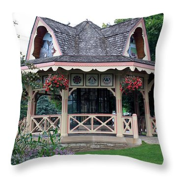 The Time Teller Throw Pillow by Hanne Lore Koehler