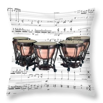 The Timpani Throw Pillow