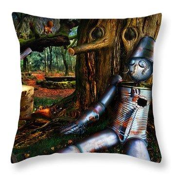 The Tin Woodman Throw Pillow