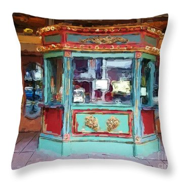 Throw Pillow featuring the photograph The Tivoli Theatre by Kelly Awad
