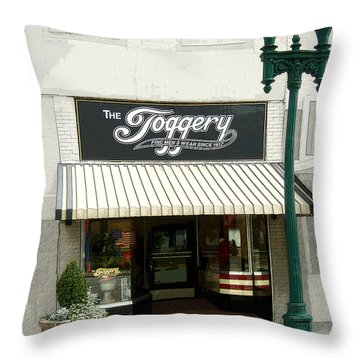 The Toggery Throw Pillow