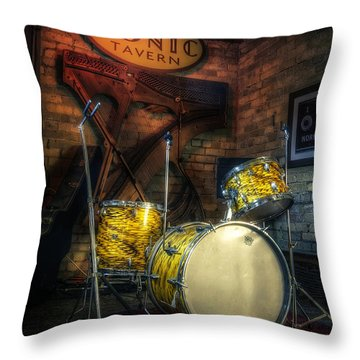 The Tonic Tavern Throw Pillow by Scott Norris