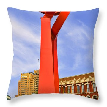 The Torch Of Friendship Throw Pillow