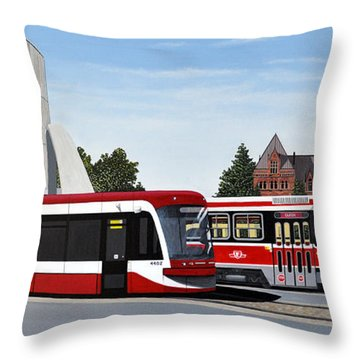 The Toronto Streetcar 100 Years Throw Pillow