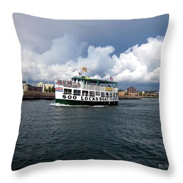 Throw Pillow featuring the photograph The Tour by Ron Haist