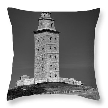 The Tower Of Hercules Lighthouse 2nd Century Throw Pillow