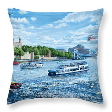 The Tower Of London Throw Pillow by Steve Crisp