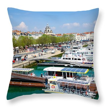 The Town And Port Of La Rochelle Throw Pillow