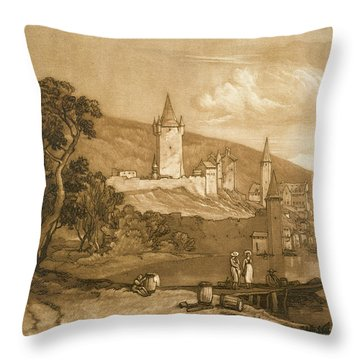 The Town Of Thun Throw Pillow by Joseph Mallord William Turner