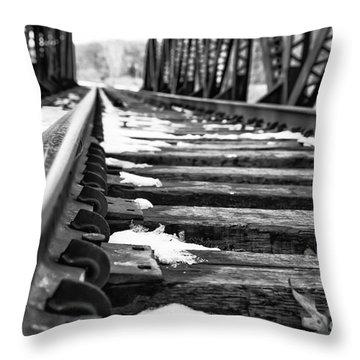 The Tracks Throw Pillow