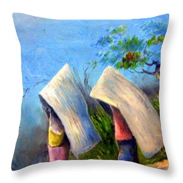 The Traditional Umbrella  Throw Pillow