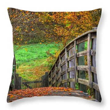 The Trail Arches On Throw Pillow