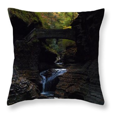 The Trail To Rivendell Throw Pillow
