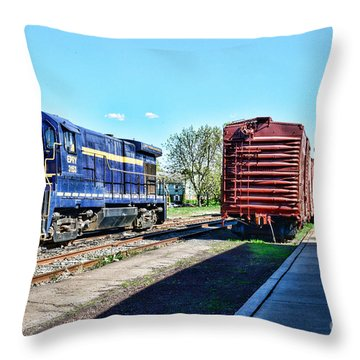 The Train Depot Throw Pillow by Paul Ward