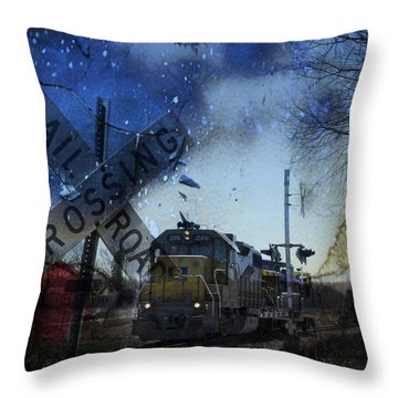 The Train Throw Pillow