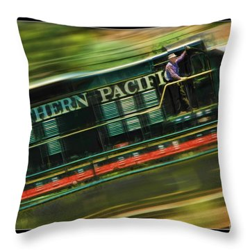 The Train Ride Throw Pillow