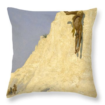 The Transgressor Throw Pillow by Fredrick Remington