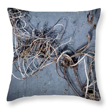 The Trapped Weed Throw Pillow by Rose Santuci-Sofranko