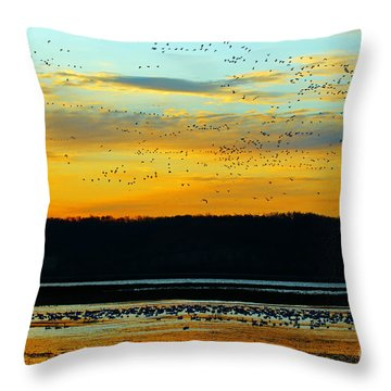 The Travelers  Throw Pillow