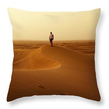 The Traveller Throw Pillow