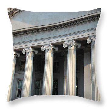 The Treasury Department Throw Pillow