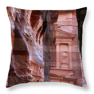 The Treasury Of Petra Jordan Throw Pillow