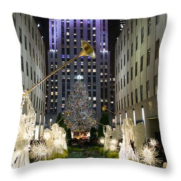 The Tree At Rockefeller Center Throw Pillow by Kenneth Cole