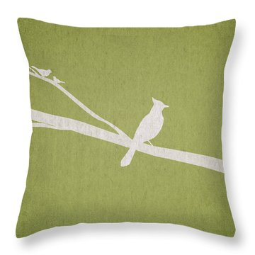 Bird Watercolor Digital Art Throw Pillows