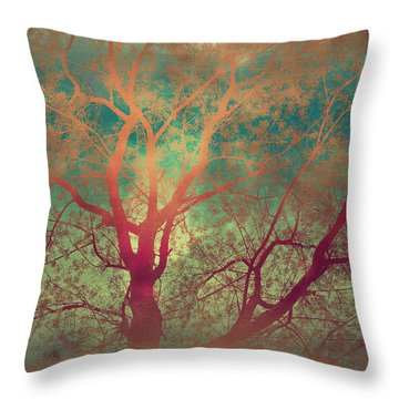 The Tree Called Beautiful Throw Pillow by Gray  Artus