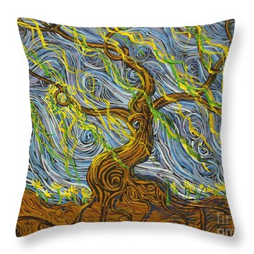 The Tree Have Eyes Throw Pillow