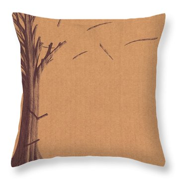 The Tree Of Life - Immigration Throw Pillow by Giuseppe Epifani