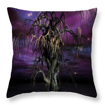 The Tree Of Sawols Throw Pillow by John Edwards