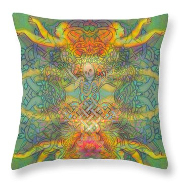 The Tree Of The Knowledge Of Good And Evil Throw Pillow