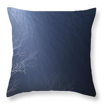 The Tree Under The Snowfall Throw Pillow