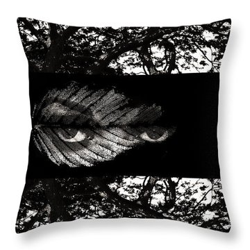 The Tree Watcher Throw Pillow by Nola Lee Kelsey