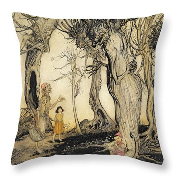 The Trees And The Axe, From Aesops Throw Pillow