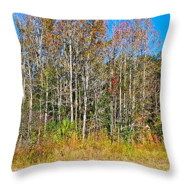 The Trees Throw Pillow by Cyril Maza