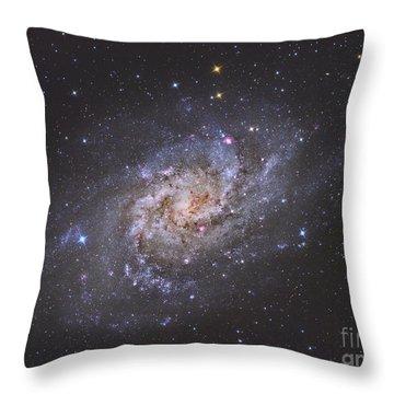 The Triangulum Galaxy Throw Pillow by Reinhold Wittich