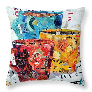 The Trio Throw Pillow by Suzy Pal Powell