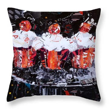 The Triplets Throw Pillow by Suzy Pal Powell