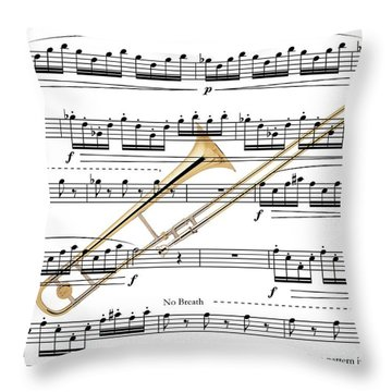 The Trombone Throw Pillow