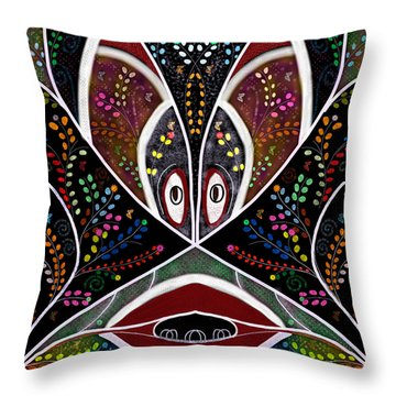 The Troubled Tribe Throw Pillow by Karunita Kapoor