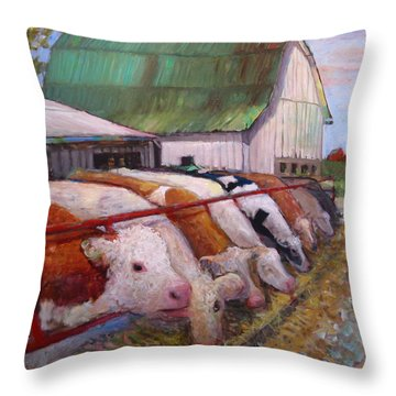 The Trought Throw Pillow
