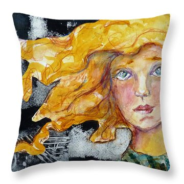 Throw Pillow featuring the mixed media The True Believer by P Maure Bausch