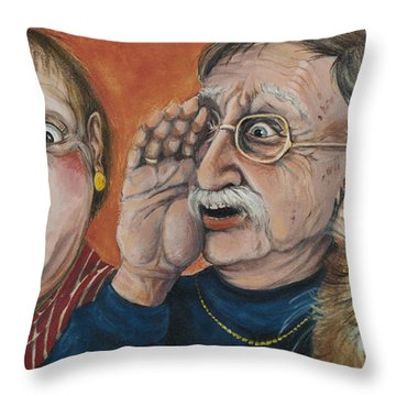 The Truth About Edna Throw Pillow by Shelly Wilkerson