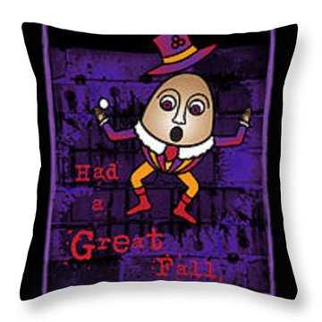The Truth About Humpty Dumpty Throw Pillow