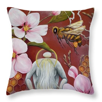 The Truth Of Beauty Throw Pillow by Sheri Howe